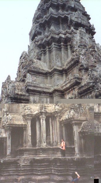 This is the central tower of the main temple. It is the highest point at Angkor and reaches a height of 65 metres, which is equivalent to Notre Dame in Paris.