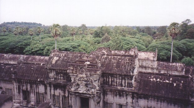 This is a view from the middle tier of the main temple, looking out to the north. Only a few hundred years ago, the entire sight was hidden in this dense jungle.