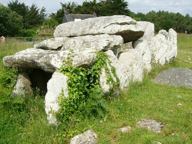 The Kermario Allé-couverte (a type of chambered tomb).