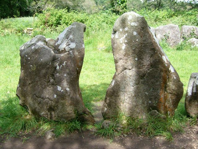 Some of the stones forming one of the sides of the Quadrilateral.