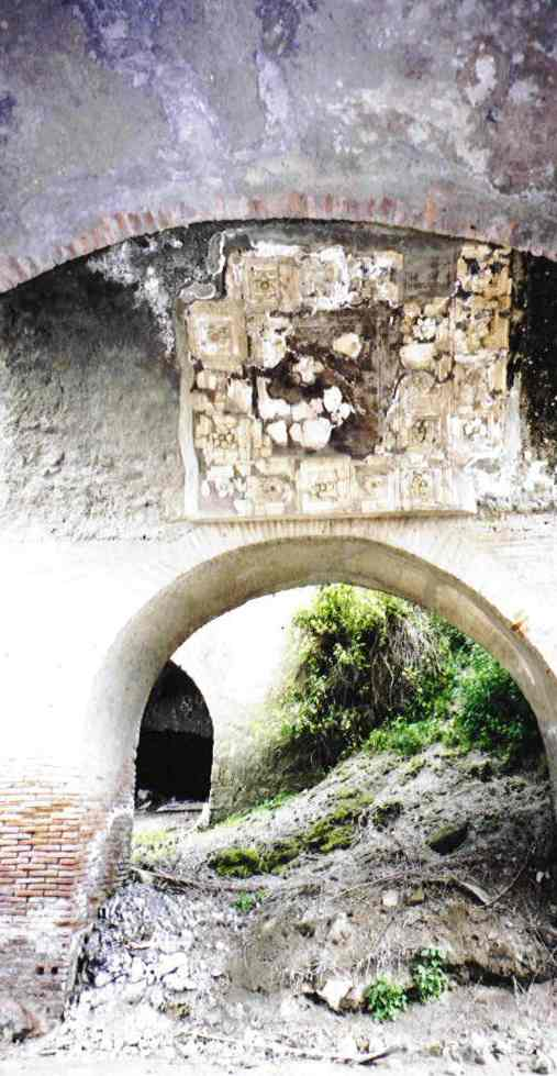 This is a photograph of an archway at the north of the site.