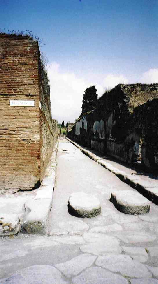Unlike Herculaneum, Pompei had no underground sewer system, so the waste would have simply rundown the street. Their solution was to place large stepping stones at road junctions which were narrow enough to allow wheeled vehicles to pass over them.
